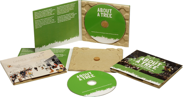 100% recycled eco CD digipak production