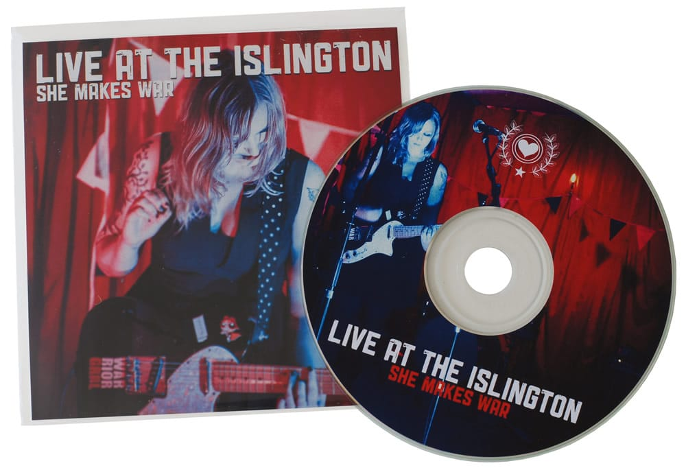 Standard 12cm CDs in clear plastic wallets with 2 page inserts