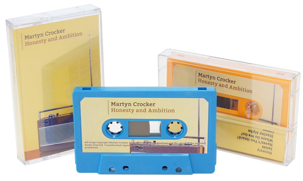 A set of Riviera blue and tangerine orange cassettes