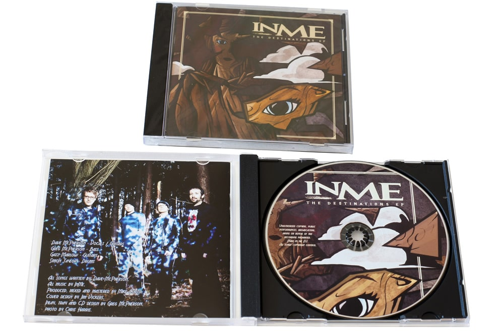 CDs in jewel cases with offset litho printed discs