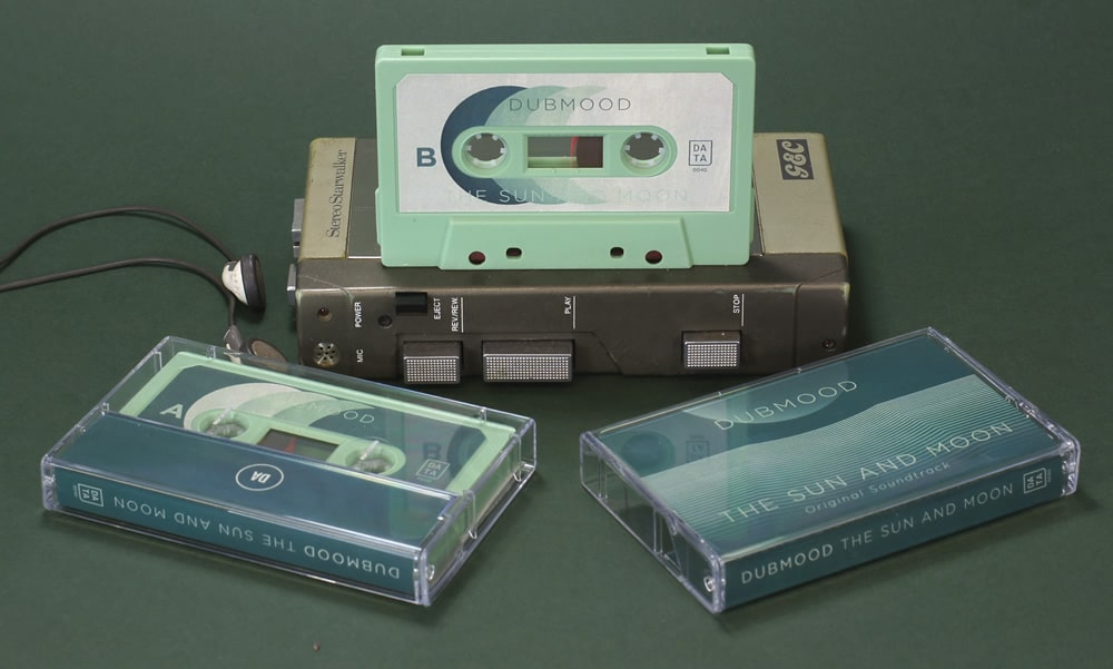 Our sage green cassettes with stickers and fantastic matching 6 panel J-cards