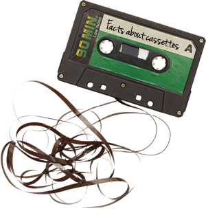 Silly facts about audio cassette tape production