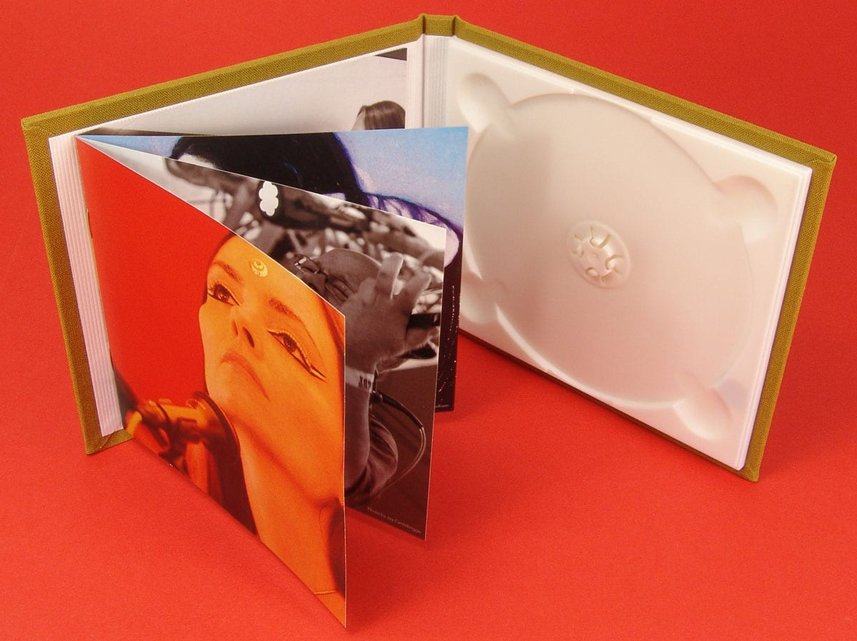 Hardback linen CD digipaks with booklets