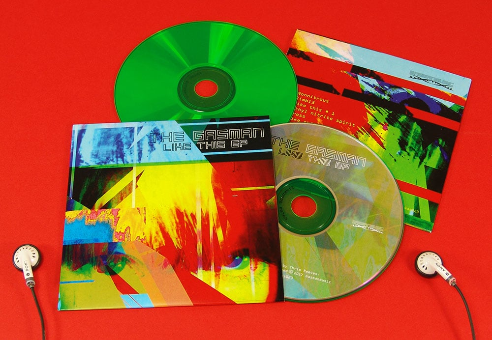 Green base CDs in full colour printed card wallets