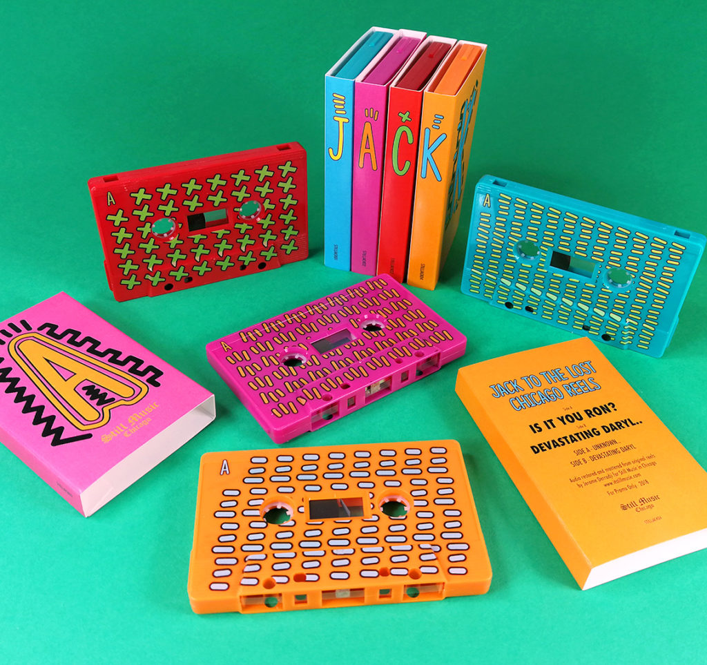 Four tape set in colourful O-cards with full coverage on-body printing