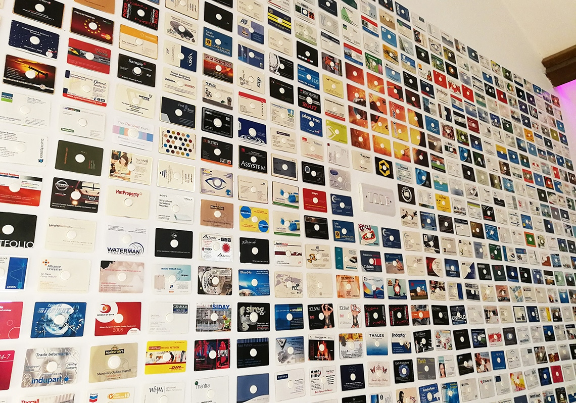 Business card CD production wall